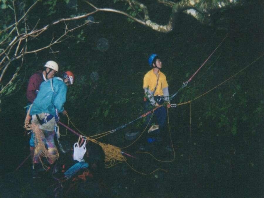 2002会山行氷川屏風岩